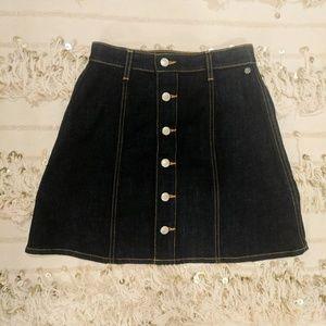 Alexa Chung for AG denim button down mini skirt